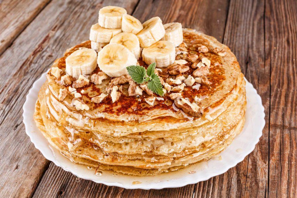 Proteinpannekaker med banan